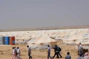 Flytkingläger Za´atri  i  norra Jordanien UNHCR
