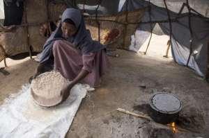Somali woman in tukul