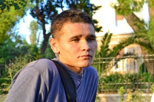 Ibrahim Jafari från Afghanistan strandad i Grekland