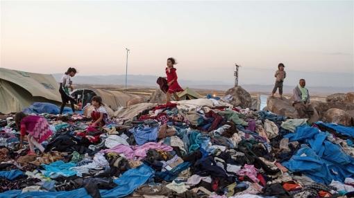 barn på sophög - irak